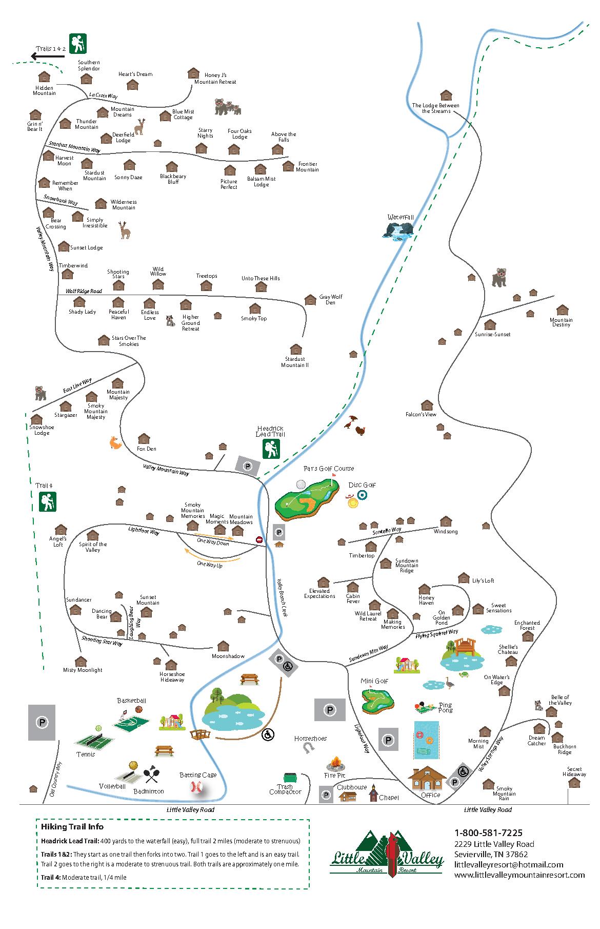 Map of Little Valley Resort